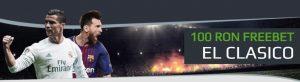 Pariaza pe Real Madrid vs Barcelona si primesti un Freebet