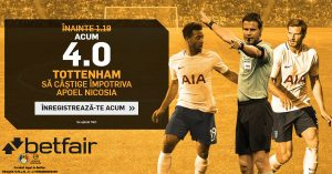 Profita de cota 4.0 pentru victoria lui Tottenham cu APOEL Nicosia