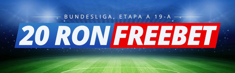 Freebet 20 RON daca pariezi pe meciurile din Bundesliga!