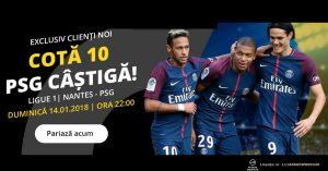 Cota 10.0 pentru PSG s-o invinga pe Nantes, formatia lui Tatarusanu!