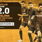 Pariaza fara ezitare la COTA 12.0 pe victoria Barcelonei cu Alaves