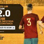 Cota 22.0 pentru victorie FCSB cu Viitorul in prima etapa din play-off