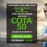 COTA 50.0 pentru gol marcat de Craiova cu RB Leipzig!