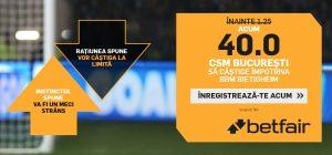Cota 40.0 pentru victorie CSM Bucuresti in Liga Campionilor la handbal feminin