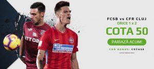 Pariaza pe 1, X sau 2 la FCSB cu CFR Cluj si castiga de 50X miza plasata